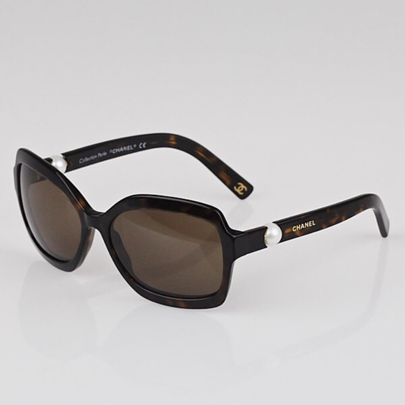 b99ef25646 CHANEL Accessories - CHANEL Tortoise Shell Pearl Sunglasses